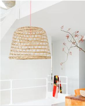 Diy Basket Becomes Pendant Light Shade Jamie In 2019 Pinterest