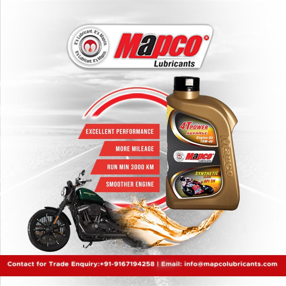 Mapco Lubricants Bike Engine Oil We Are Manufacturer Of