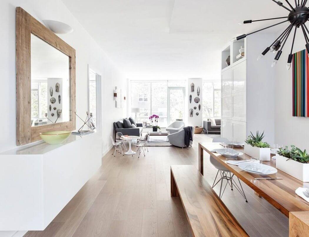 Wunderschönes Esszimmer In Weiß, Und Holz. Riverdale Apartment By Touijer  Designs