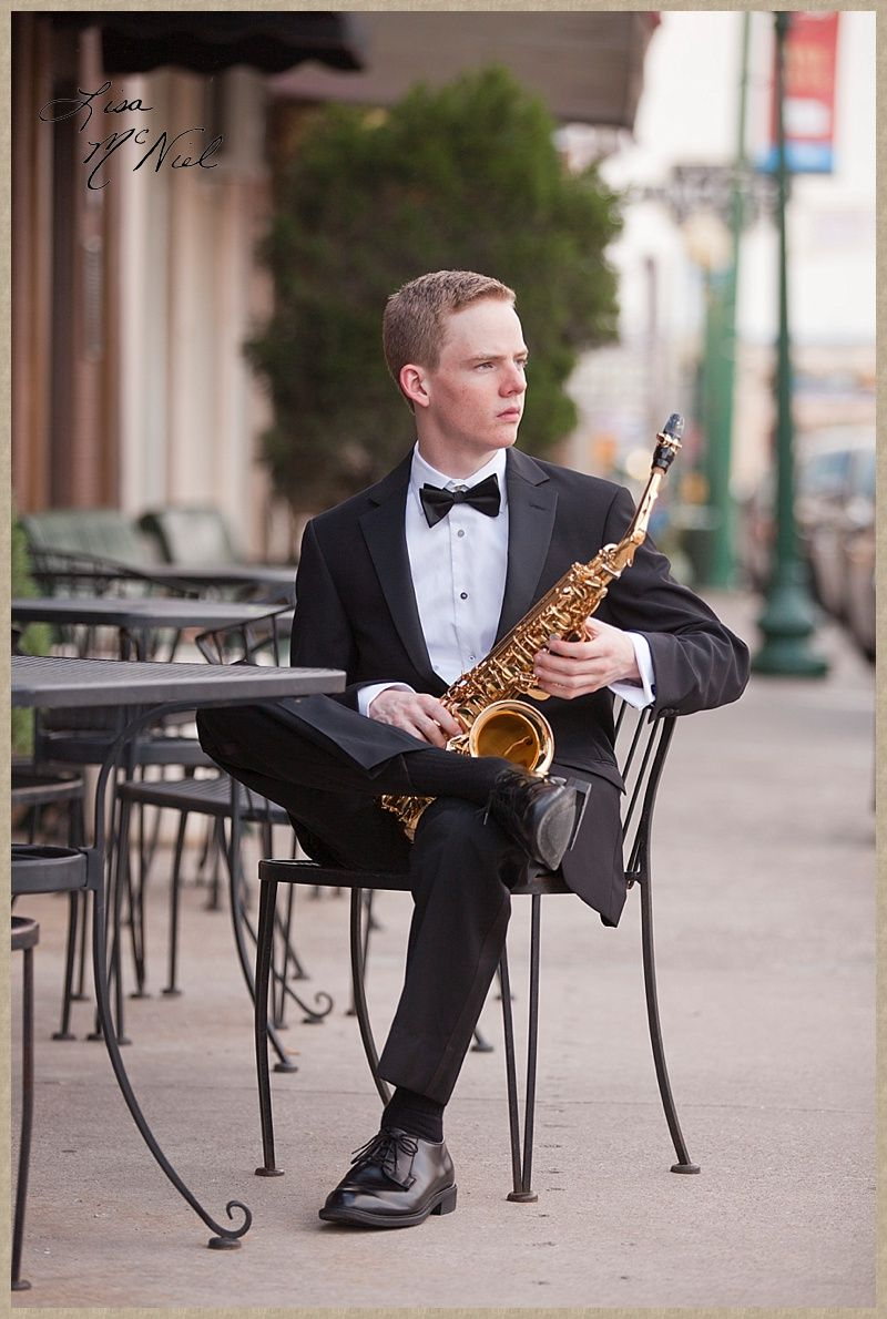 Senior boy pictures ideas for band by Flower Mound
