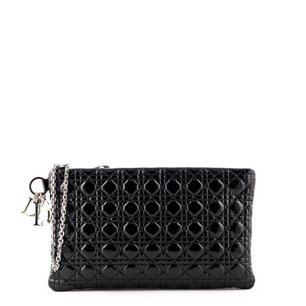 8836d8695781a Dior Black Patent Cannage Large Clutch - LOVE that BAG - Preowned Authentic  Designer Handbags  largeblackpatentclutchbag