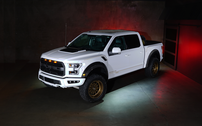 Download Wallpapers Mad Raptor Tuning Ford F 150 Limited Edition 4k Pickup 2017 Cars New F 150 Suvs Ford Besthqwallpapers Com F 150 Raptor Ford Raptor Chevy Reaper