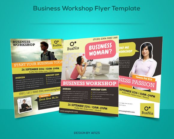 Business Workshop Promotion Flyer  Flyer Template And Logos