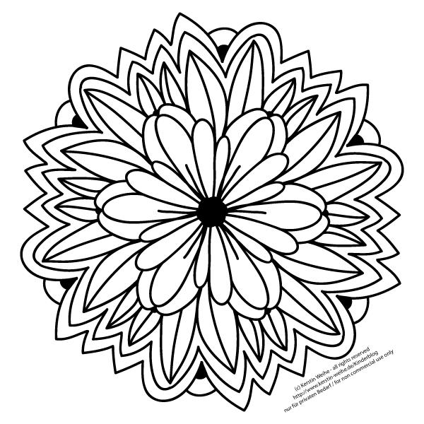Malvorlage Blume | Mandala and Coloring pages | Pinterest | Hobbit ...