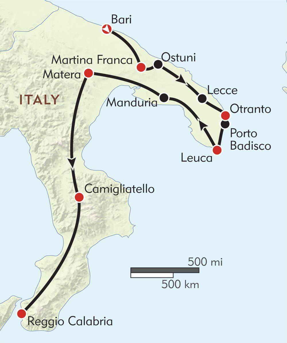 Italy Puglia Basilicata and Calabria routemap Travel photos