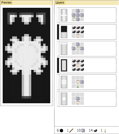 minecraft how to make a creeper banner