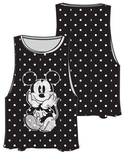 d48956959 Disney Womens Tank Top Solo Mickey Mouse Black White