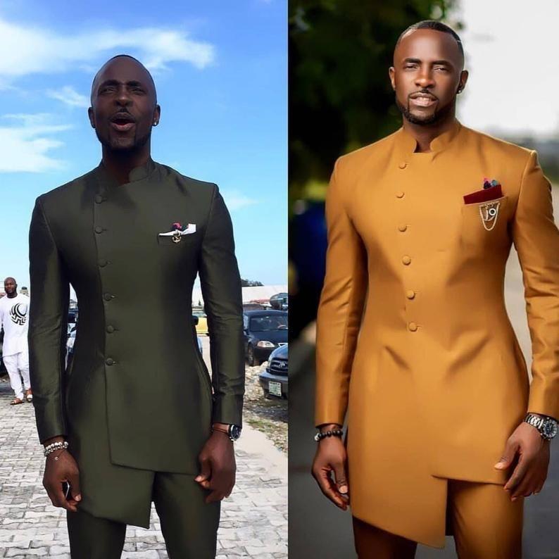 Men/'s kaftan and trousers african men clothing men/'s fashion African men/'s wear African wedding suit groomsmen suit African men attire