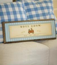 Boys room-kyltti