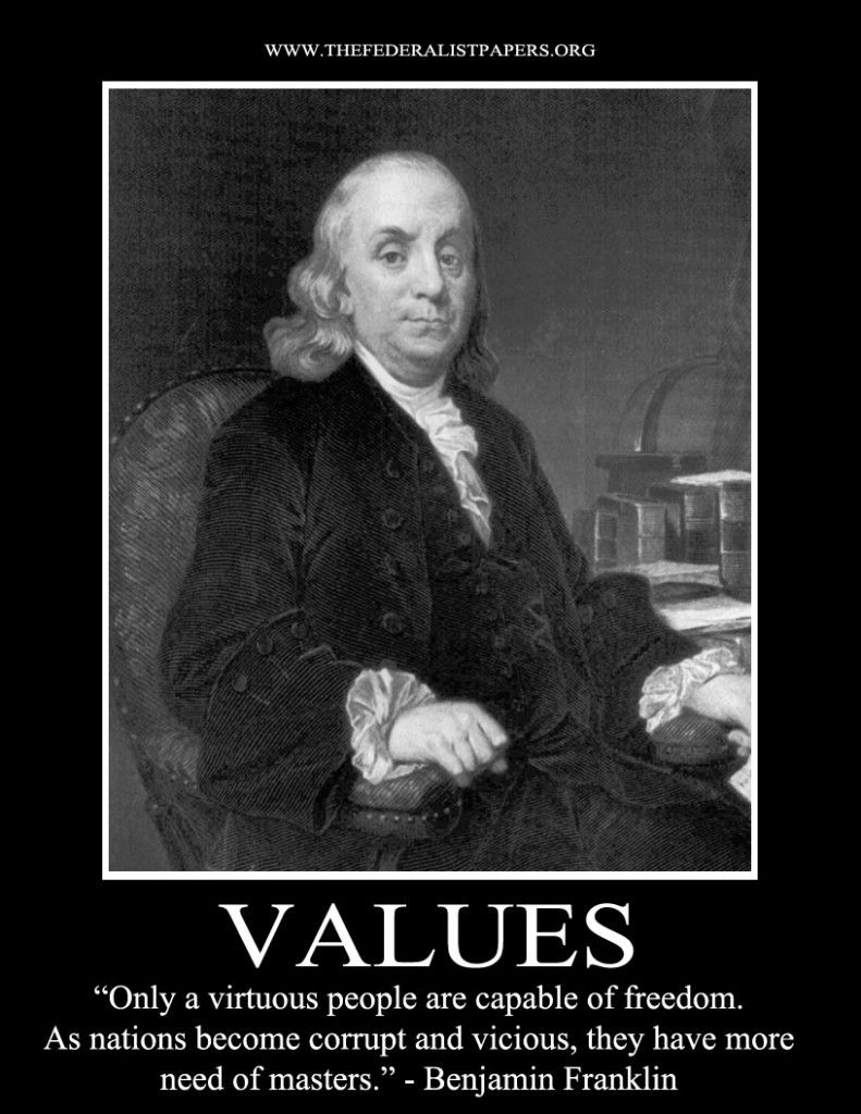 Benjamin Franklin Poster Only A Virtuous People Are Capable Of Freedom Benjamin Franklin Founding Fathers Ben Franklin Quotes