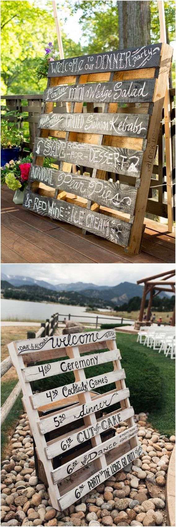 Wedding decorations country  Say ucI Doud to These Fab  Rustic Wood Pallet Wedding Ideas