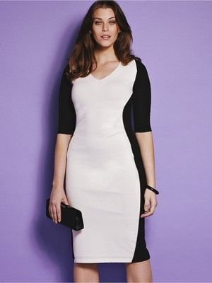 This Dress Comes In 3 Bust Types How Cool The 2 Tone Color Make You
