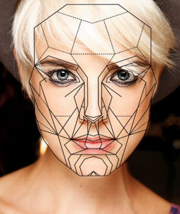 A perfectly geometric face inspo pinterest geometric face using the golden ratio to discover the perfect human face elle ccuart Image collections