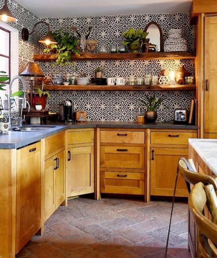 30 amazing bohemian style kitchen decor ideas home decor hacks boho style kitchen kitchen on boho chic kitchen table ideas id=22414
