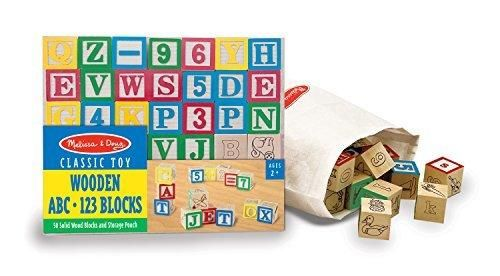 Superieur Melissa U0026 Doug Deluxe Wooden ABC/123 Blocks Set With Storage Pouch (50 Pcs;  Colors May Vary)