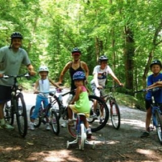 Family bike rides are terrific for healthy exercise and building happy memories