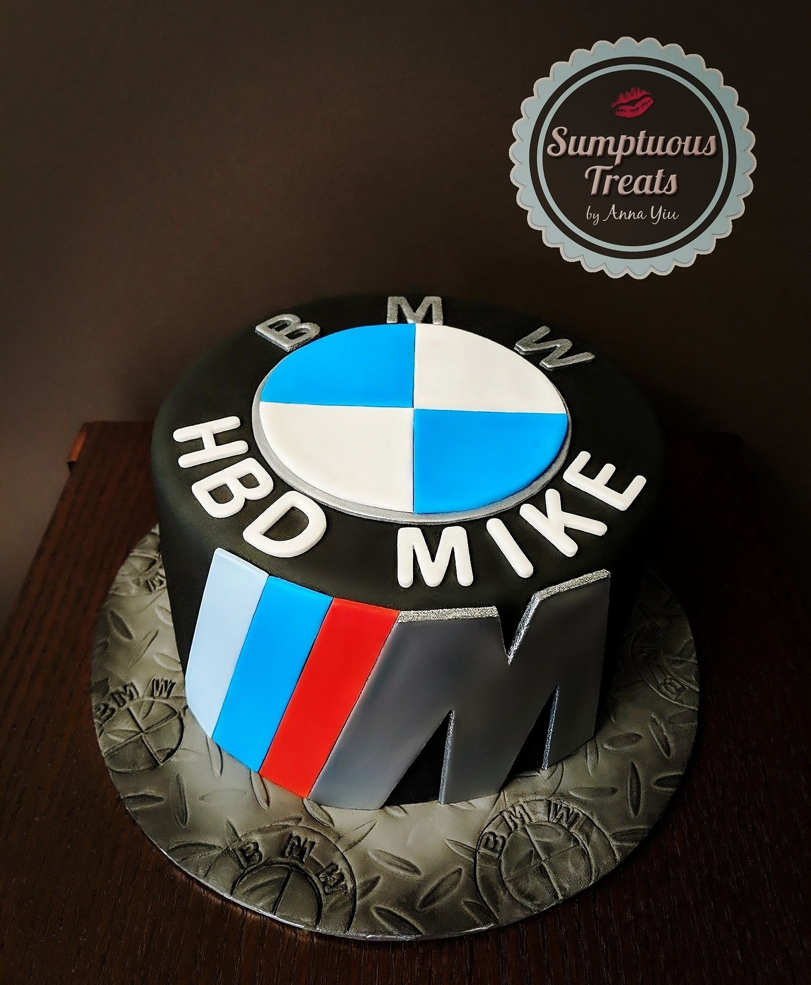 BMW M3 Badge Birthday Cake CustomMadeToOrder Cakes Edible Art