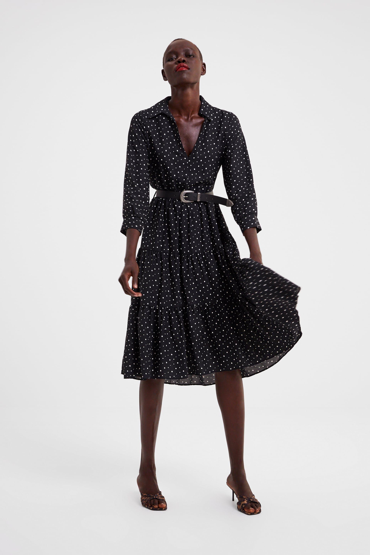 8b45fd34 Polka dot belt dress in 2019 | tasha | Belted dress, Dot dress ...