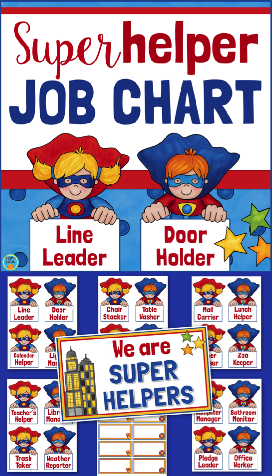Classroom Jobs Superhero Job Chart Superhero Classroom