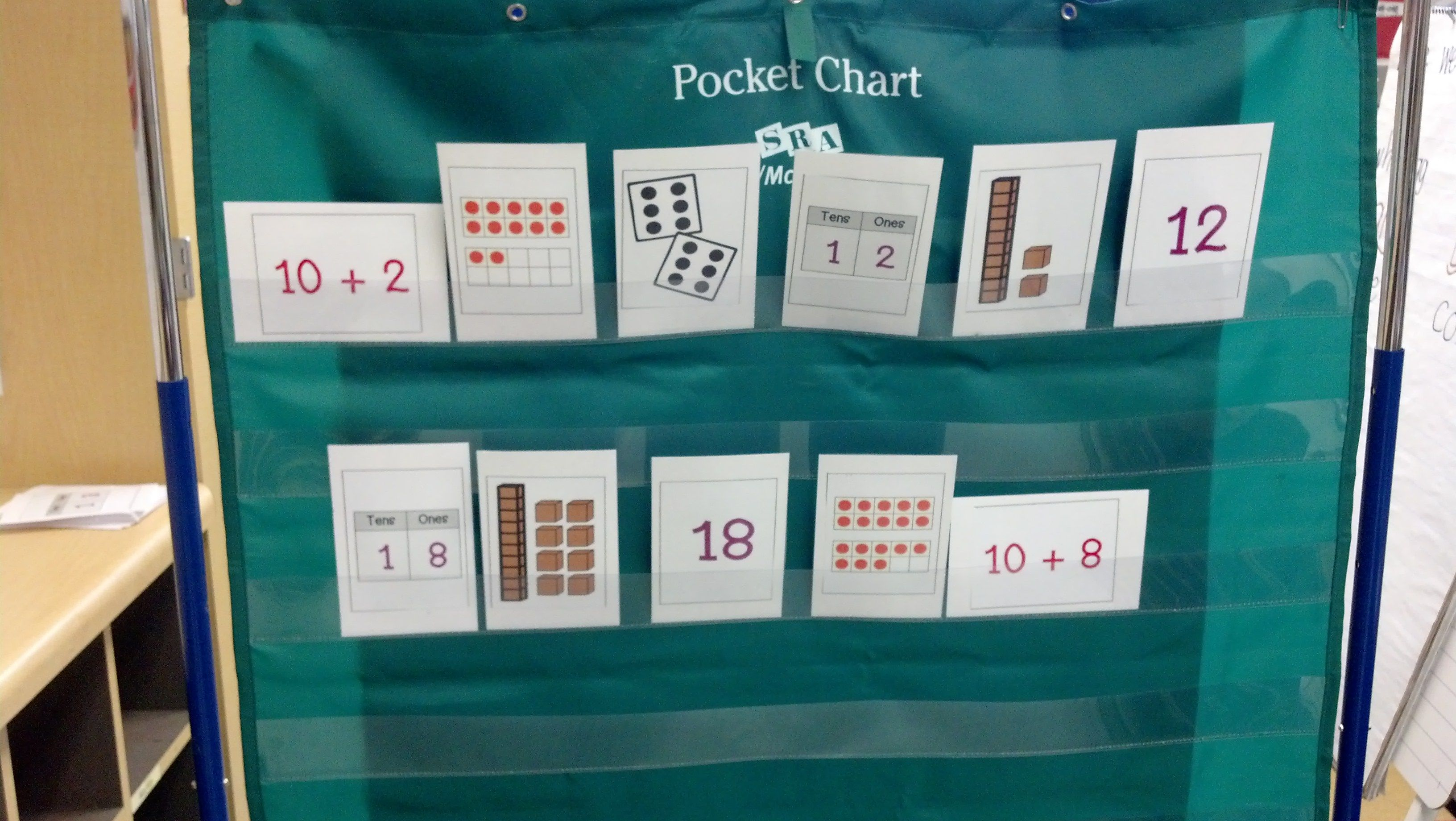 My Students Use Flash Cards At A Pocket Chart To Show