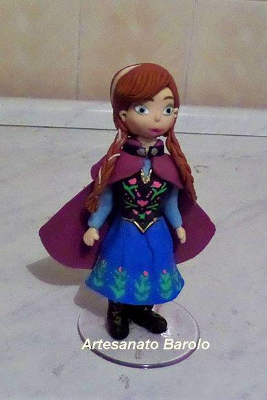 Anna Frozen em Topo de Bolo
