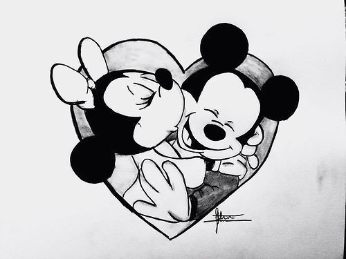 Minnie Mouse Stoel : Mickey minnie mickey and minnie in disney drawings