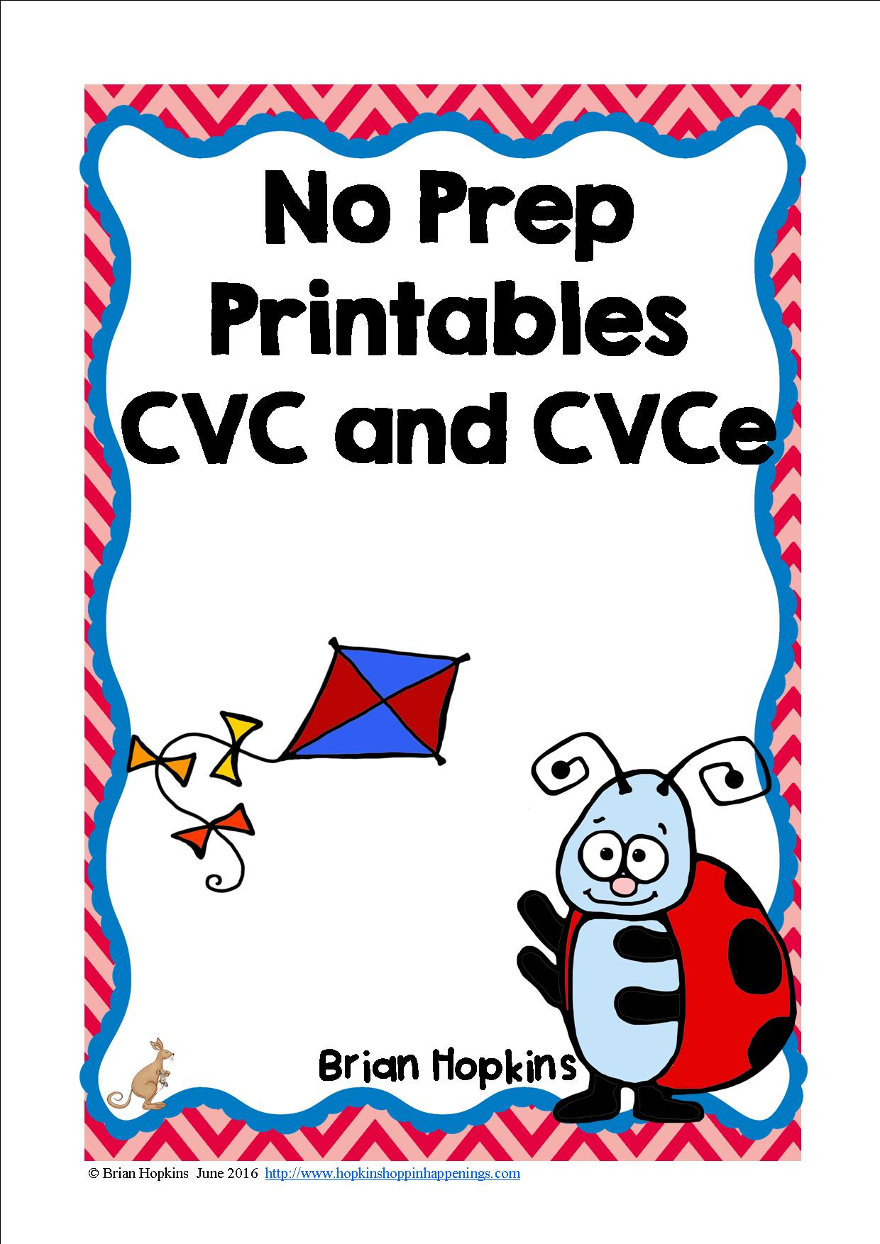 Cvc And Cvce No Prep Printables