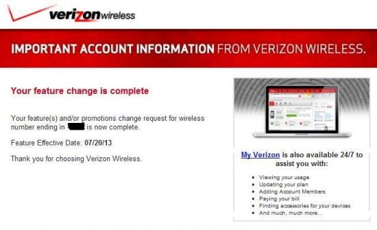 Verizon Adds Feature to All User Accounts Without