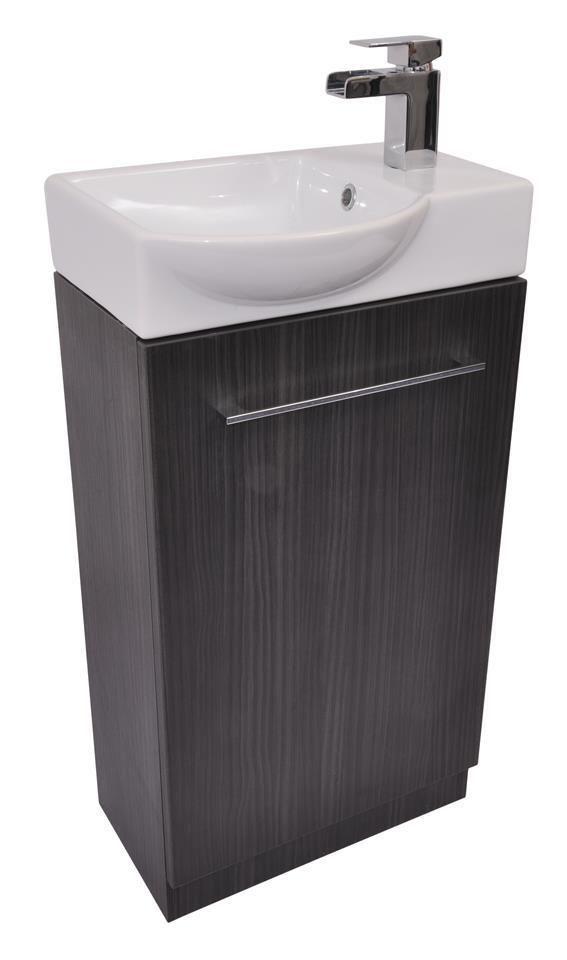 grey cloakroom bathroom vanity cupboard cabinet unit basin. Black Bedroom Furniture Sets. Home Design Ideas