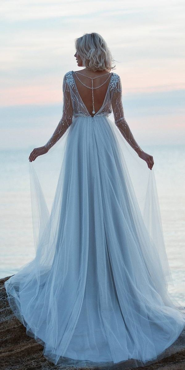 18 Dreamy Blue Wedding Dresses To Inspire