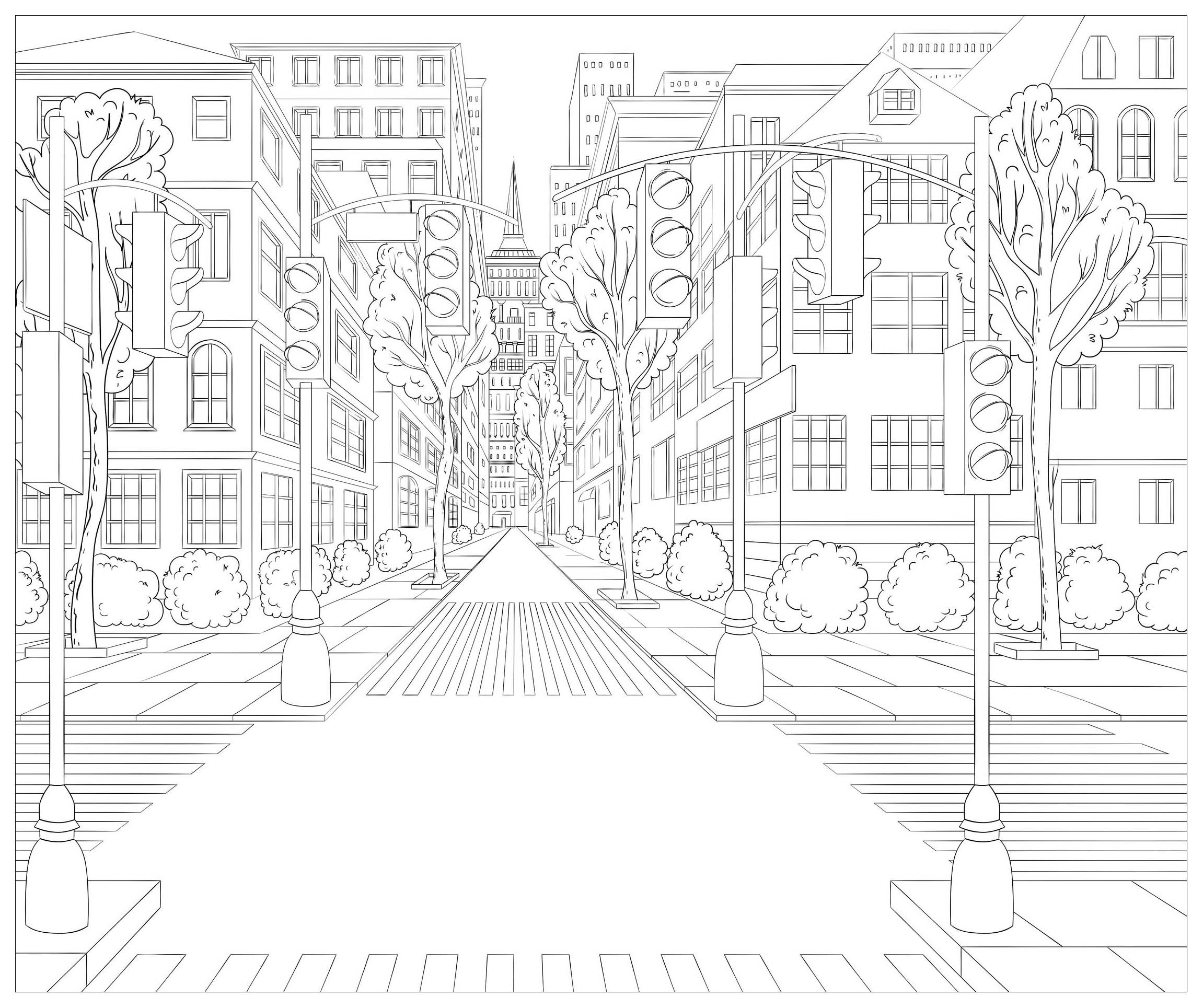 Street Coloring Pages