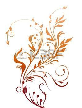 Декоративный цветочный элемент photo