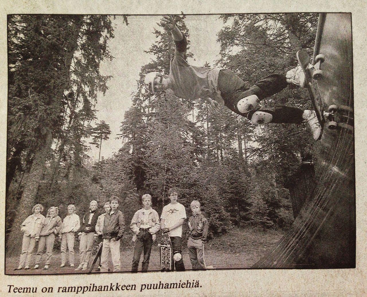 Siihen aikaan kun saatiin verttiramppi - vaikka miniä pyydettiin.  #rullalauta #skateboard #oldschool #jokioinen #tb #forssa