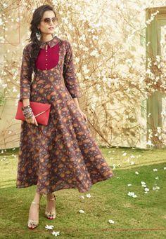 1ea89ffcd4 Readymade Multicolor Lawn Cotton Printed Anarkali Kurti #kurti #ladiestops  #cottonkurti #kurtionline #longkurti #minidress #dress #onlineindiandress  ...