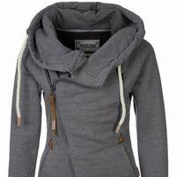 Alion Men Long Sleeve Solid Color Plus Size Zipper Hooded Drawstring Coat 6 M