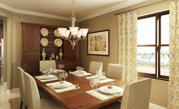 Dining room rendering lennar homes riverstrand estates - Lennar homes interior paint colors ...