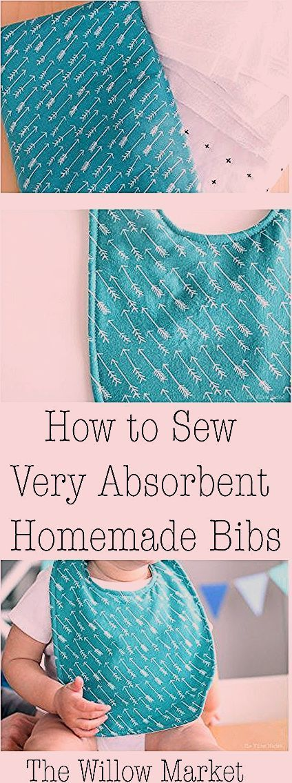 Comment coudre des bavoirs maison très absorbants. #sewingpatternsforbaby   – Sewing Projects