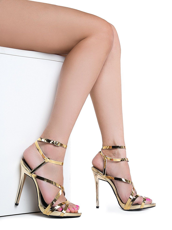 24382b7b3b6 Womens Ankle Strap High Heel Sandals - Dress