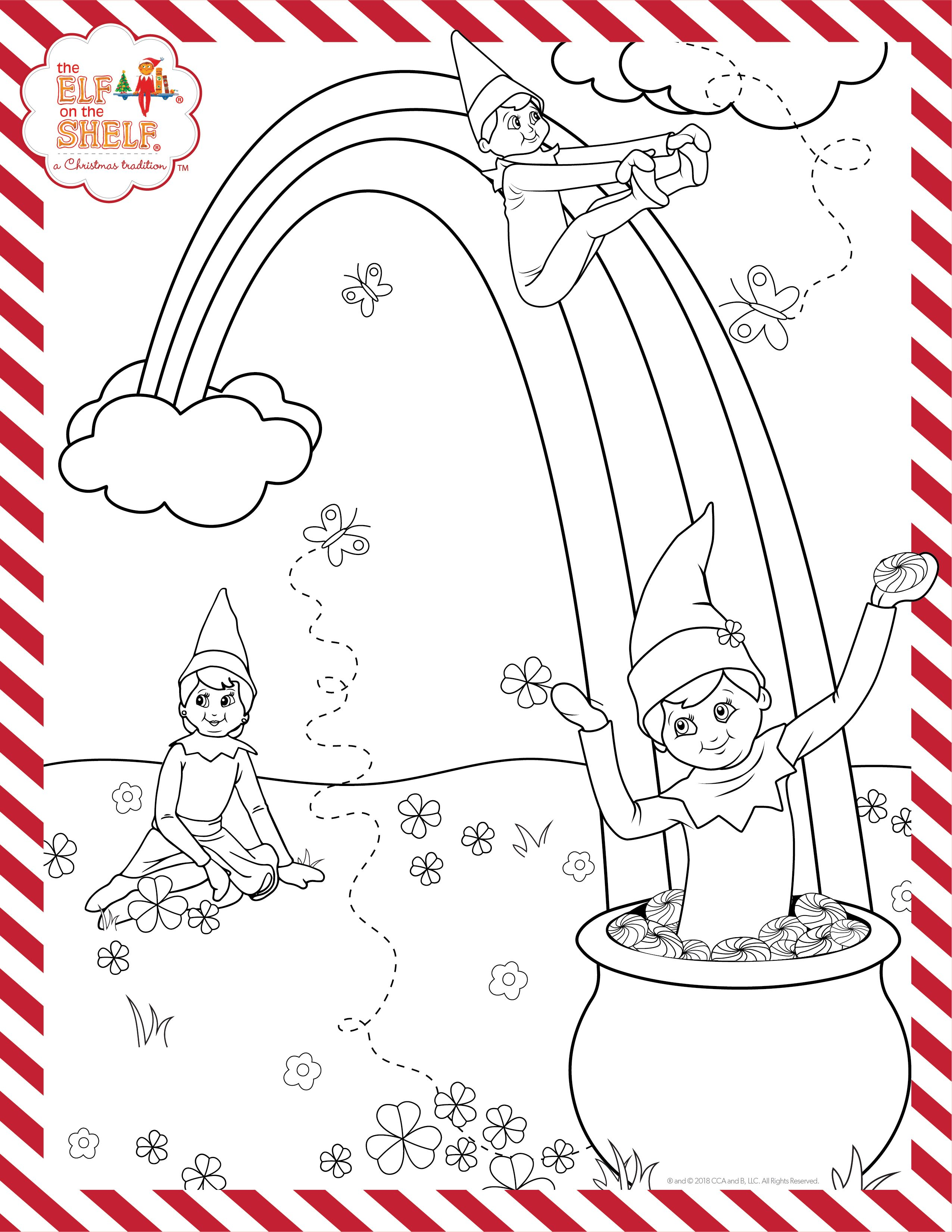 St Patrick S Day Printable Kids Coloring Pages Activities For Kids Elf On The Shelf Ideas Elf Activities Christmas Coloring Pages Elf On The Shelf