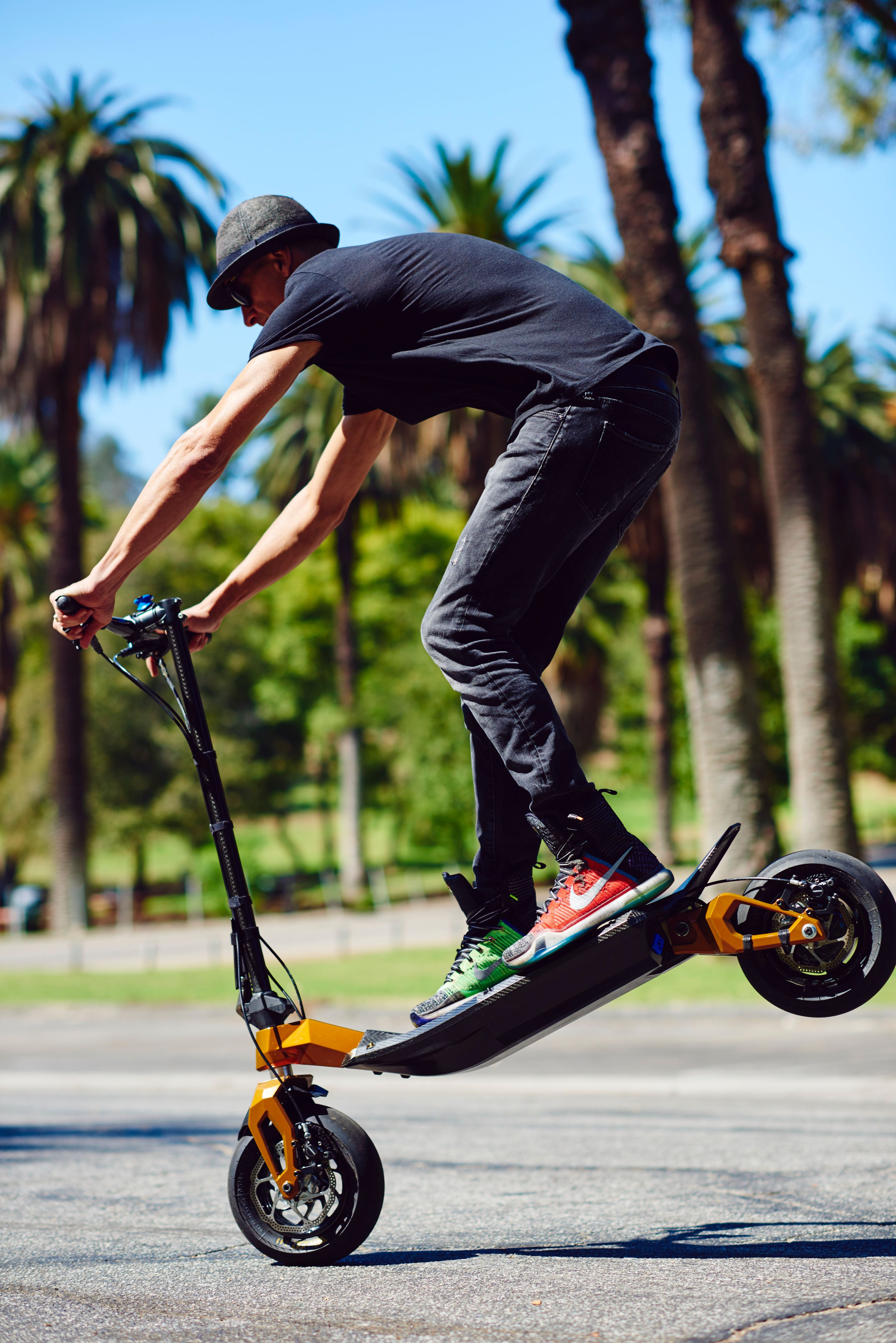 The Ultra High Performance Full Carbon Fiber Electric Scooter