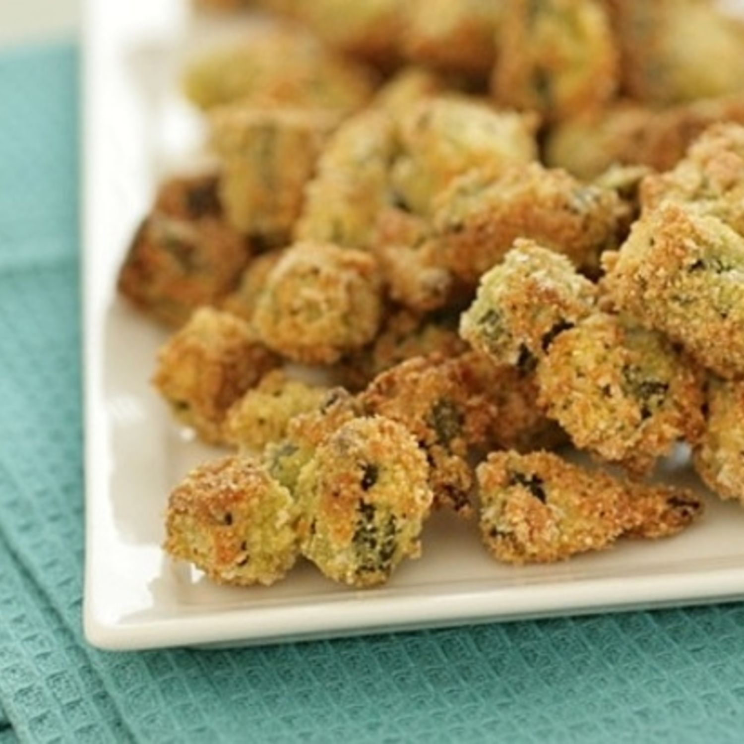 Coated with a deliciously spiced egg wash and flaked panko