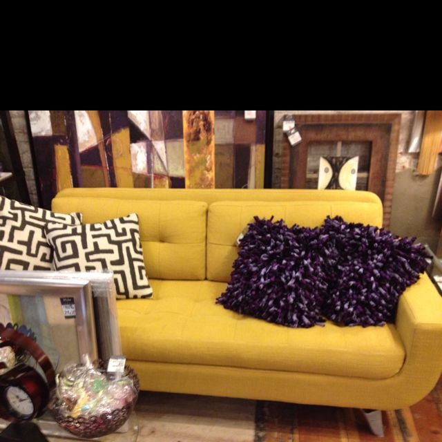Mustard Yellow Couch... Love It