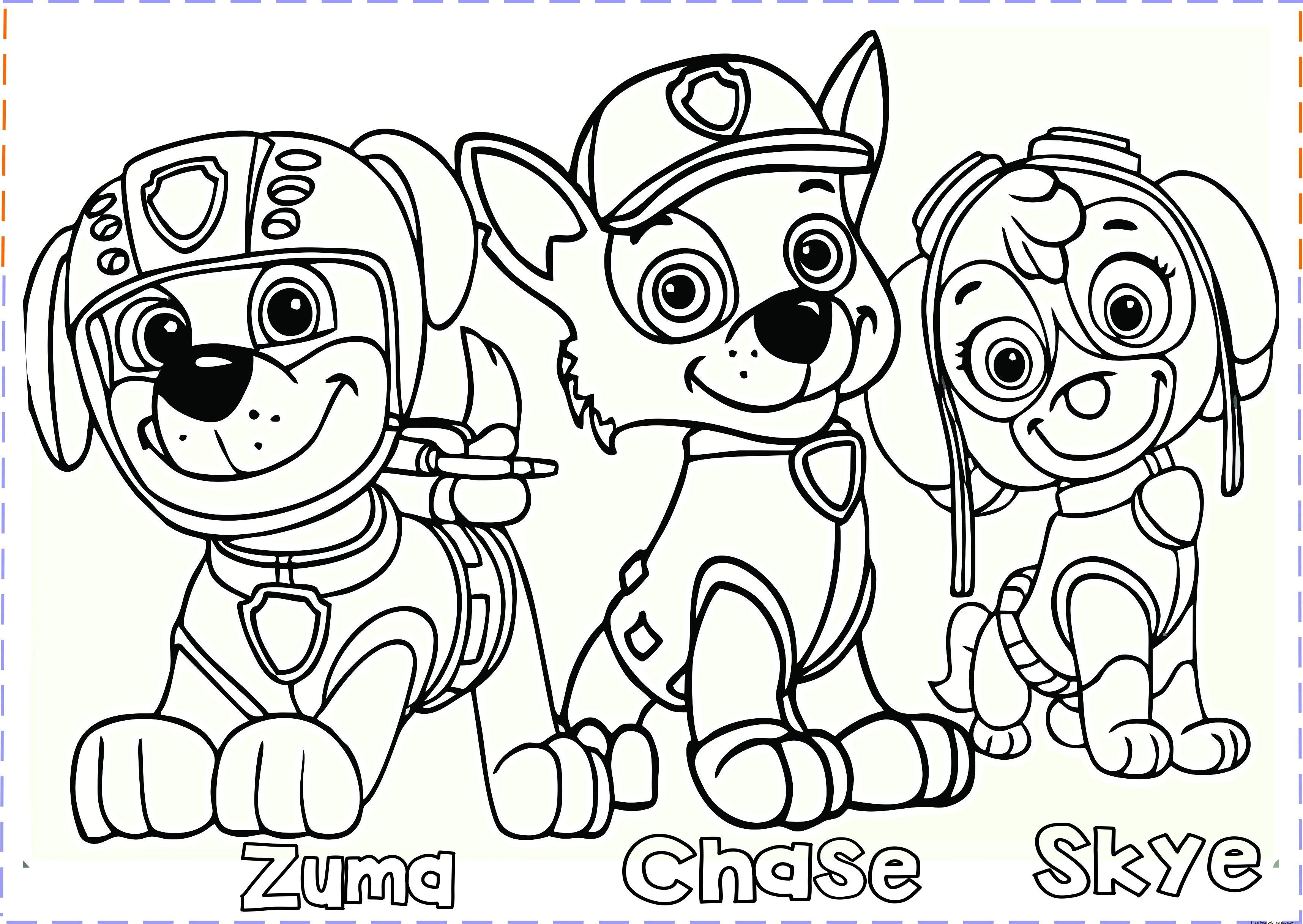Chase Paw Patrol Coloring Page Lovely Chase Paw Patrol Coloring Page In 2020 Paw Patrol Coloring Pages Paw Patrol Coloring Puppy Coloring Pages