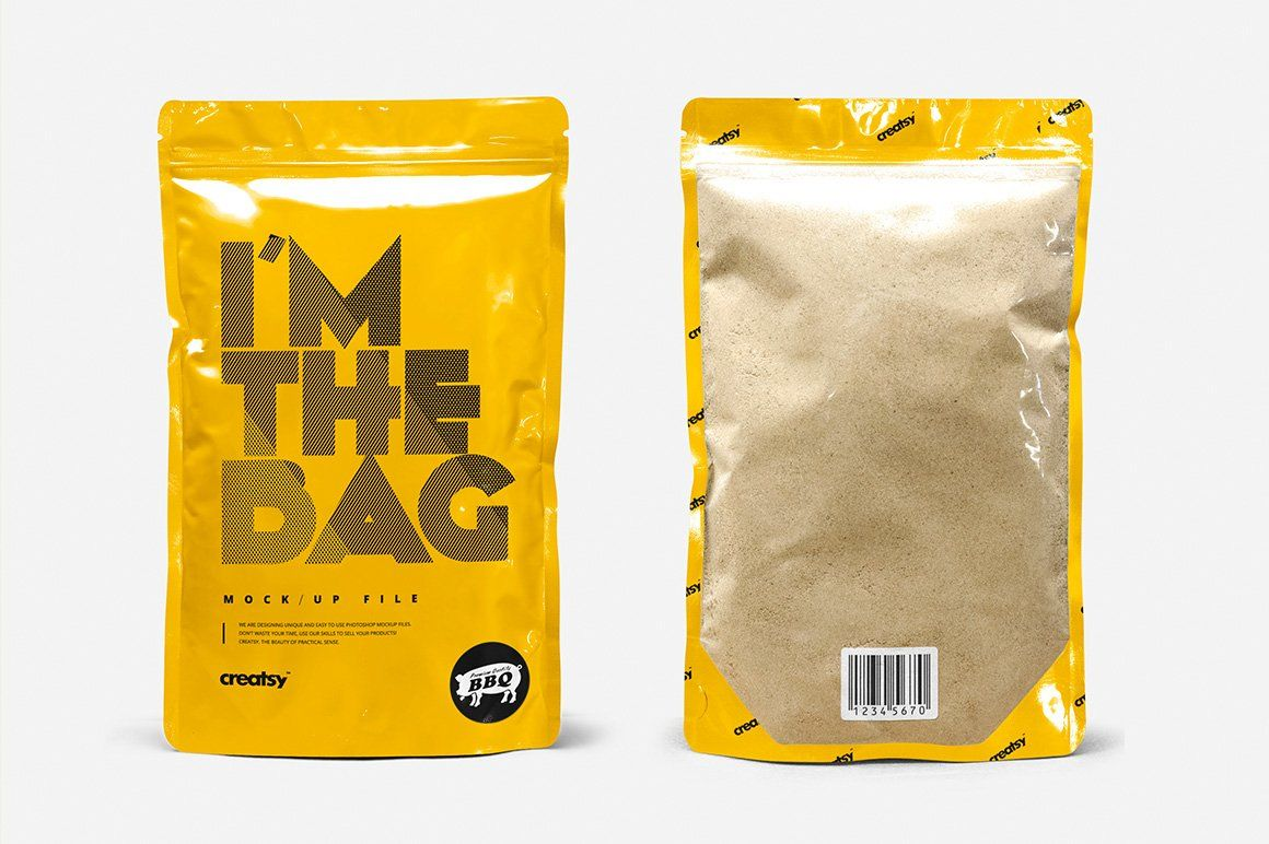 Download Zip Lock Plastic Bag Mockup Set Bag Mockup Plastic Bag Pouch Packaging