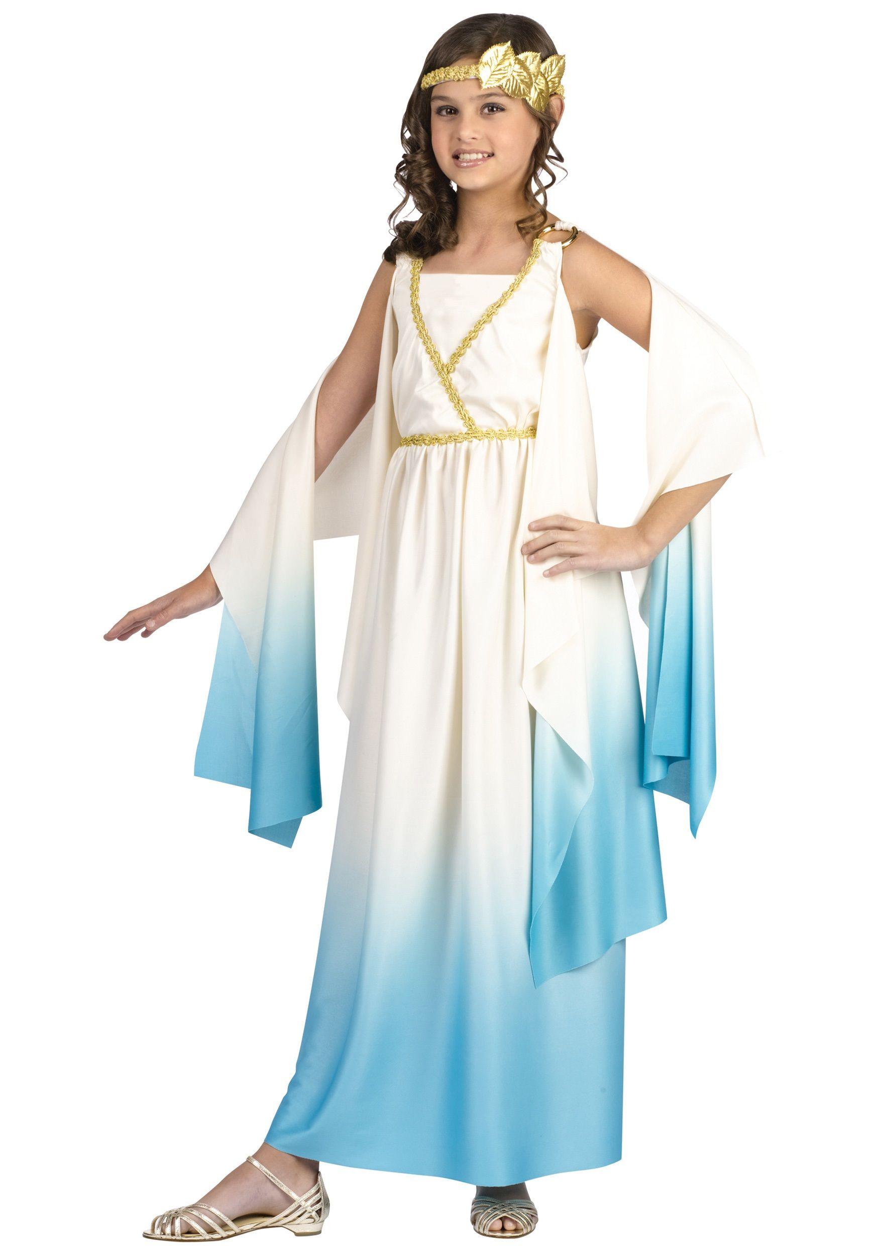 Child Greek Goddess Costume Girls Greek Goddess Costume Goddess Costume Athena Costume