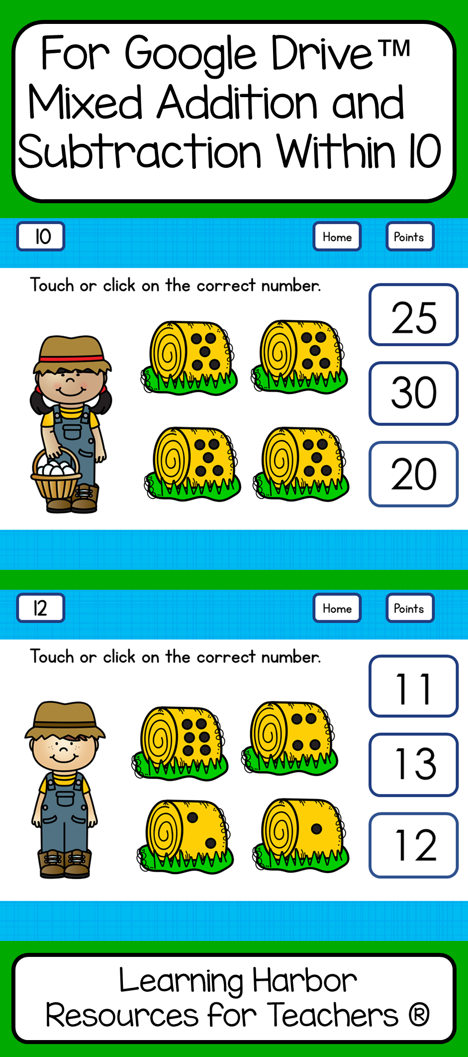 Numbers 11 - 20 Kindergarten Farm theme for Google Drive™ | Pinterest