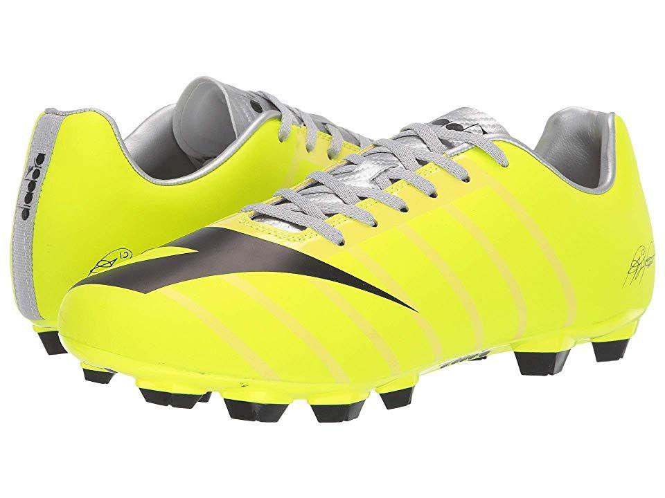 Diadora Rb2003 R Lpu Men S Soccer Shoes Dd Yellow Black Silver With Images Soccer Shoes Yellow Black Silver Man