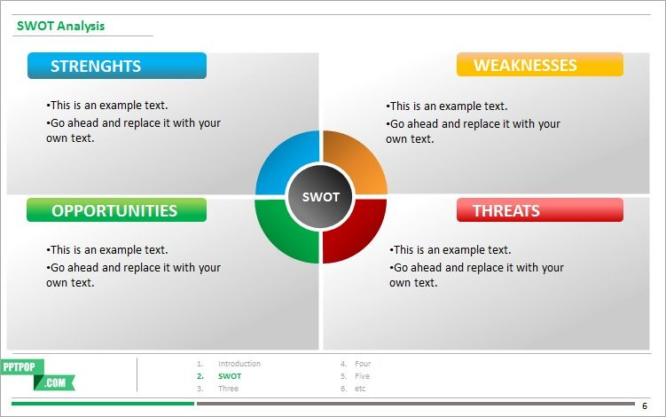 swot template ppt Technology illustrations Pinterest Swot - case analysis