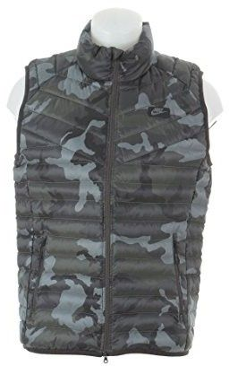 517e3a900487f Nike 678283-037 Men Guild 550 Printed Vest Tumbled Grey Deep Pewter ...