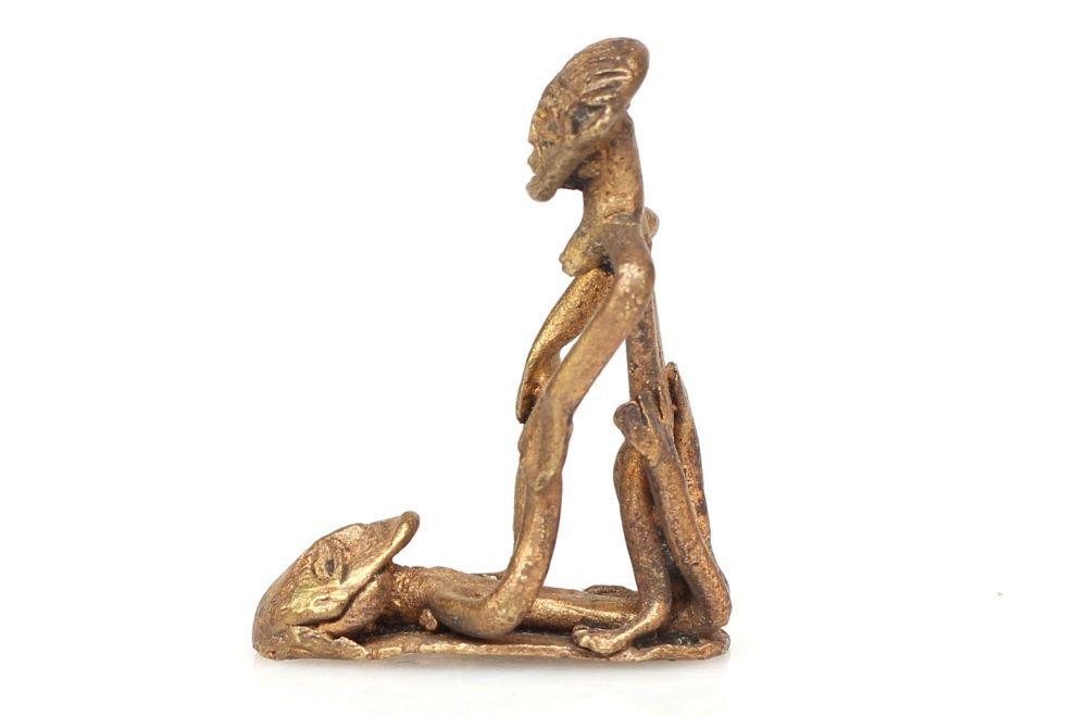 Tribal Art, Gold Weight Replica Ashanti #1448 | Erotic Weights | Metal — Deco Art Africa - Decorative African Art - Ethnic Tribal Art - Art Deco